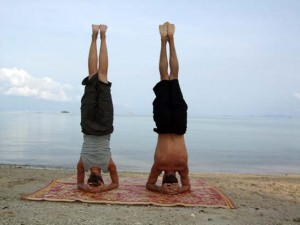 yoga - sirshasana