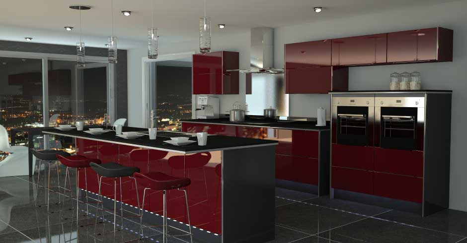 Contemporary look - a nice burgundy adds a fresh flavor
