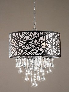 home accents - chrome antique bronze chandelier.