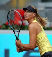 Maria Sharapova - ready for a forehand crosscourt winner