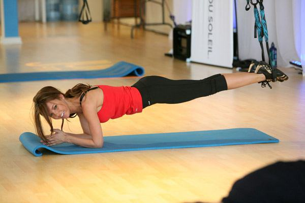 Audrina Patridge  trying out Jukari Workout