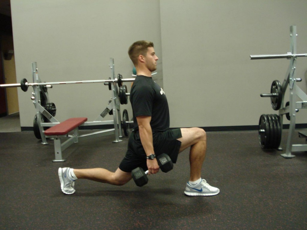 Split Squats with dumbells