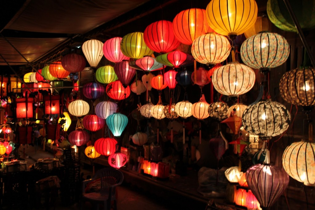 fancy silk lanterns!
