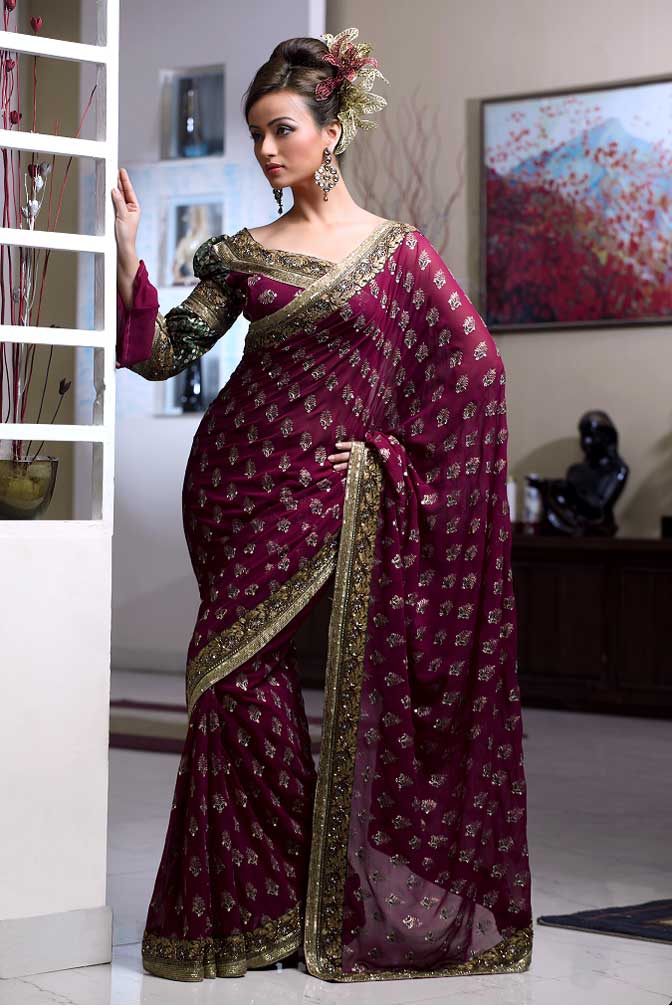 Baluchari sari - heavy work