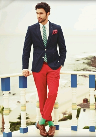 bold red trousers